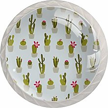 Cactus Pattern Drawer Round Knobs Cabinet Pull