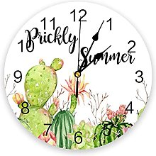 Cactus Prickly Summer Silent Non Ticking Wall