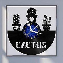 Cactus theme vinyl record wall clock wall clock