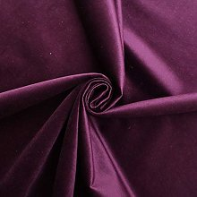 Cadburys Purple -LUXURY VELVET SHINY PLAIN GENOVA
