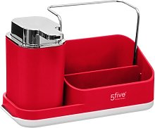 Caddy Soap Dispenser 5five Finish: Red