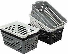 Cadine 6 Packs Plastic Kitchen Cupboard Storage