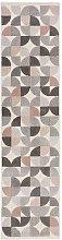 Cadiz Alcazar Geometric Grey Pink Runner 60x230cm