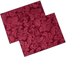 Cadiz Damask Effect Berry Red Pack of 2 Placemats