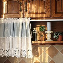 Cafe Curtain Kitchen Curtains for Windows White