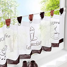 Cafe Curtain Kitchen Curtains for Windows with