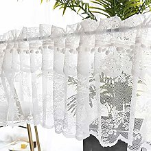 Cafe Curtain Kitchen Curtains with Pelmet Net