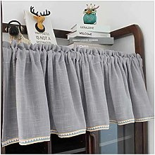 Cafe Kitchen Curtain Tiers for Small Window, Half