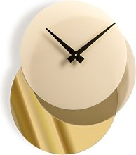 Caffey Wall Clock Ebern Designs Colour: Gold