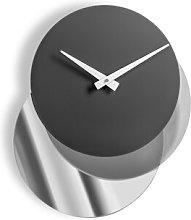 Caffey Wall Clock Ebern Designs Colour: Silver