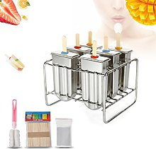 Cafopgrill Set of 6 Stainless Steel Ice Lolly