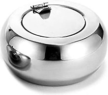 CAIDIEQUEEN Round Stainless Steel Ashtray Home