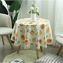 caihuashopping Round Tablecloth Anti-wrinkle