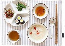 CAIJINJIN Bowl Bowl Creative Ceramic Cutlery Set