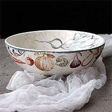 CAIJINJIN Bowl Large Soup Bowl Mixing Bowl Fruit