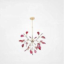 CAIMEI Ceiling Pendant Lamp Pink Chandelier Purple