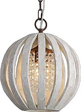 CAIMEI Lamp Hanging Light Round Crystal