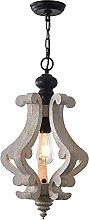 CAIMEI Lamp Hanging Light Wooden Chandelier,Shabby