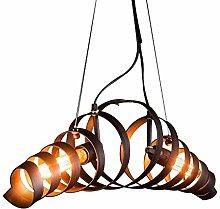 CAIMEI Pendant Hanging Light Metal Spiral