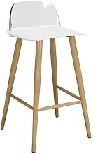 Caire Bar Stool Mikado Living Seat Finish: White