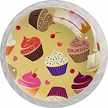 Cake Cherry Glass Cabinet Knobs Knobs for Kitchen