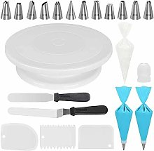 Cake Decorating Kits Supplies with Cake Turntable,