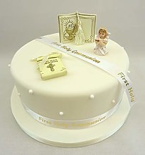 Cake Decoration First Holy Communion Girl Bible
