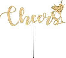 Cake Topper Cake Bunting Decor, Cheers Cake Topper