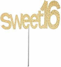 Cake Topper Cake Bunting Decor, Sweet 16 Cake