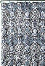 Calais Dobby Silver Teal Aqua Blue Gray Brown
