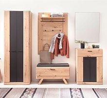 Calais Wooden Hallway Furniture Set In Planked Oak