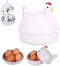 Calayu Microwave 4 Egg Steamer, Chicken Shaped