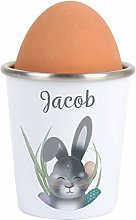 CalEli Gifts Personalised Bunny Egg Cup