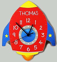CalEli Gifts Personalised Childrens Wall Clock.