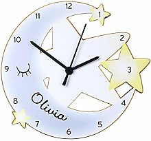 CalEli Gifts Personalised Kids Clock. Childrens