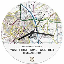 CalEli Gifts Personalised Present Day Map Compass