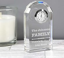 CalEli Gifts Personalised Scroll Design Crystal
