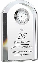 CalEli Gifts Personalised Silver Anniversary