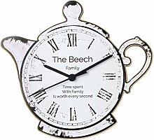 CalEli Gifts Personalised Teapot Shaped Wooden