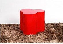 Cali Lamp Table - Fibreglass Red Fibreglass
