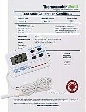 Calibrated Digital Fridge Freezer Thermometer With