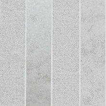 Calico Stripe Wallpaper Metallic Embossed Striped