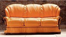 California 3 Seater Italian Leather Sofa Settee