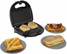 Calitek 3 in 1 Sandwich Toaster, Panini, Waffle