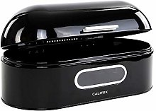 Calitek Retro Bread Bin Storage Round Top Kitchen