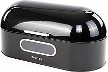 Calitek Round Top Retro Bread Bin-Black