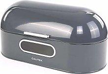 Calitek Round Top Retro Bread Bin-Grey