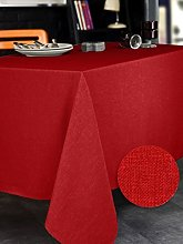 CALITEX Bromine Cherry Round Tablecloth Polyester