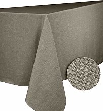 CALITEX Bromine Taupe Round Tablecloth Polyester