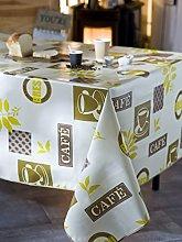 CALITEX Coffee Corsica Tablecloth PVC Beige 200x